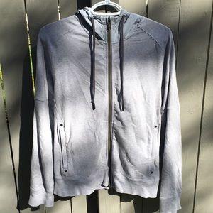 Lululemon Gray Hooded Sweatshirt Jacket Size 8